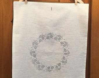 Tea towel linen, hand printed