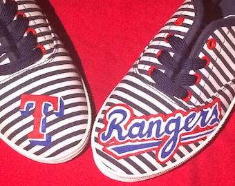 Texas Rangers custom shoes