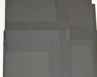 Black uncut matboard various finish and sizes