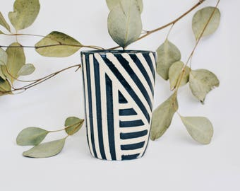 Ceramic Cup, Handleless Mug, Wheel Thrown cup, Coffee Cup, Ceramic Mug