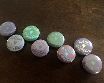 Hamilton Ship Pins - Set of 8