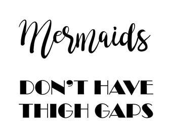 Mermaids Typography Wall Art Print Quote