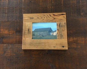 Barn Board Picture Frame - ON SALE!!!    15% off regular price of 29 dollars