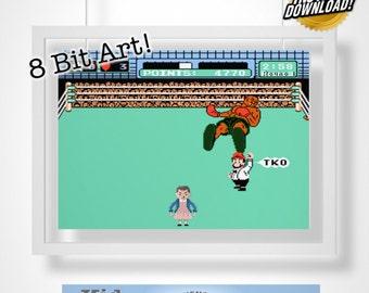 "Stranger Things 11 ""Mike Tyson's Punch Out"" Digital 8 Bit Art!"