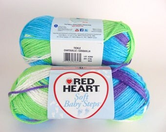 Tickle - Red Heart Soft Baby Steps variegated Yarn Baby Yarn  - 3045