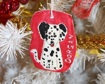 Personalised Dalmatian keepsake, Christmas tree ornament