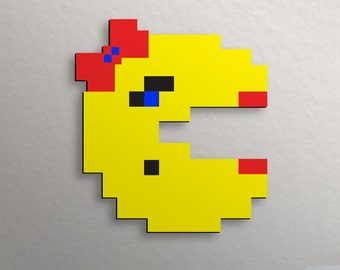 Retro Pac-man Wall Art Ms Pacman