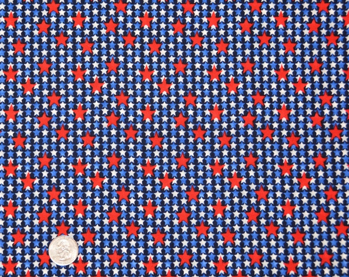 BSA Red, White and Blue Compliment Print - Kaufman Registered Boy Scout Fabric - 100% Kona Cotton