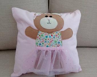 Ballerina Bear Cushion