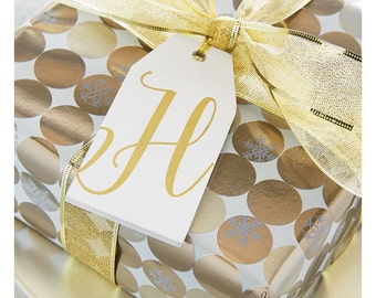 Wooden Initial Tag