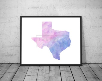 Watercolor Texas State