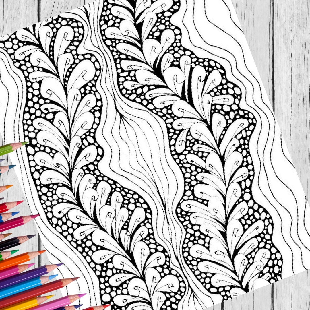 printable coloring pages set of 3 digital download