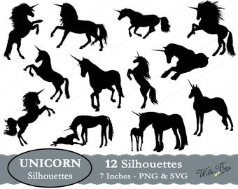 Unicorn SVG Clip Art, Horse Clipart, Unicorn Image, Unicorn Clipart, Legendary Creature, Spiral Horn, Pointed Horn, Instant Download