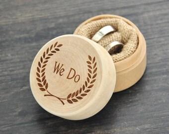 Rustic Wedding Ring Bearer Box
