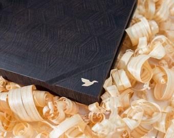 End Grain Cutting Board, Personalized Cutting Board, Housewarming Gift, Wood Cutting Board, Serving Board, Wedding Gift, Wenge Cutting Board