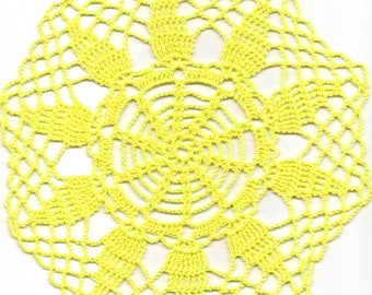 Crochet Doily Small Crocheted Doilies Home Decor Handmade Tablecloth Wedding Table Decoration Modern Home Interior Round Vintage Style Sunny