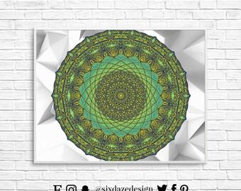 Third Eye's Pried, Mandala Art, Mandala Art Print, Mandala Home Decor, Boho Mandala Print