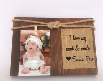 aunt picture frame aunt gift uncle picture frame personalized picture frame aun and uncle photo frame