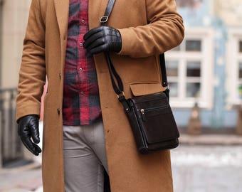 Messenger Messenger bag Shoulder bag Leather bag Crossbody bag Leather messenger bag Leather crossbody bag Men leather messenger bag