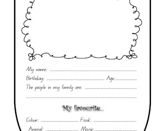 All About Me! Bunting – PRINTABLE!