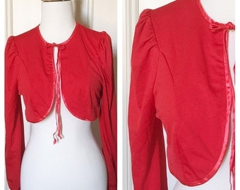 Cropped Bolero style 70's Red Jacket