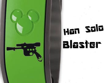 Star Wars Han Solo Blaster Magic Band Decal for Original or 2.0 Disney Magicband Skins Stickers Accessories
