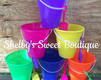 Personalized Sand/Beach Buckets