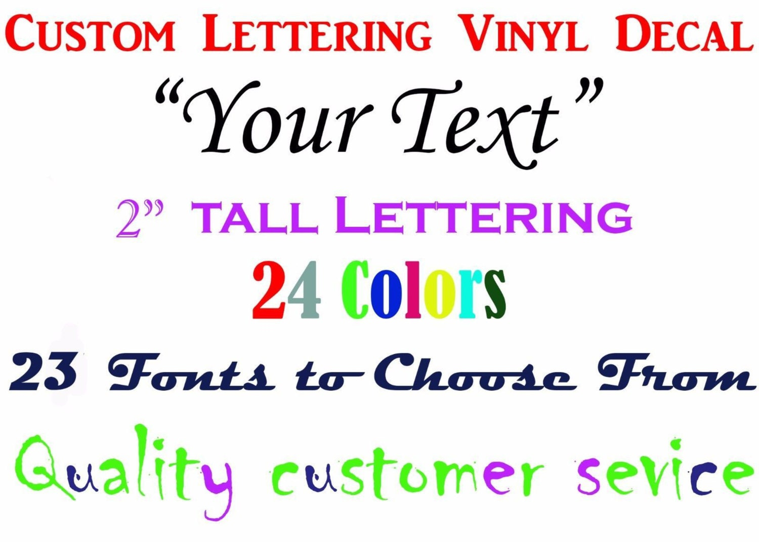 Custom  Vinyl Lettering Decal Sticker Great For Wine - Custom vinyl stickers for wine glasses   for business