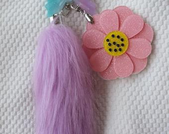Flower Mirror Keychains