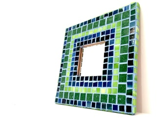 CUSTOM Mosaic Wall Art Mosaic Mirror Wall Decor Mosaic Mirror Art Home Decor Wall Mirror Stained Glass Decorative Mirror Made To Order