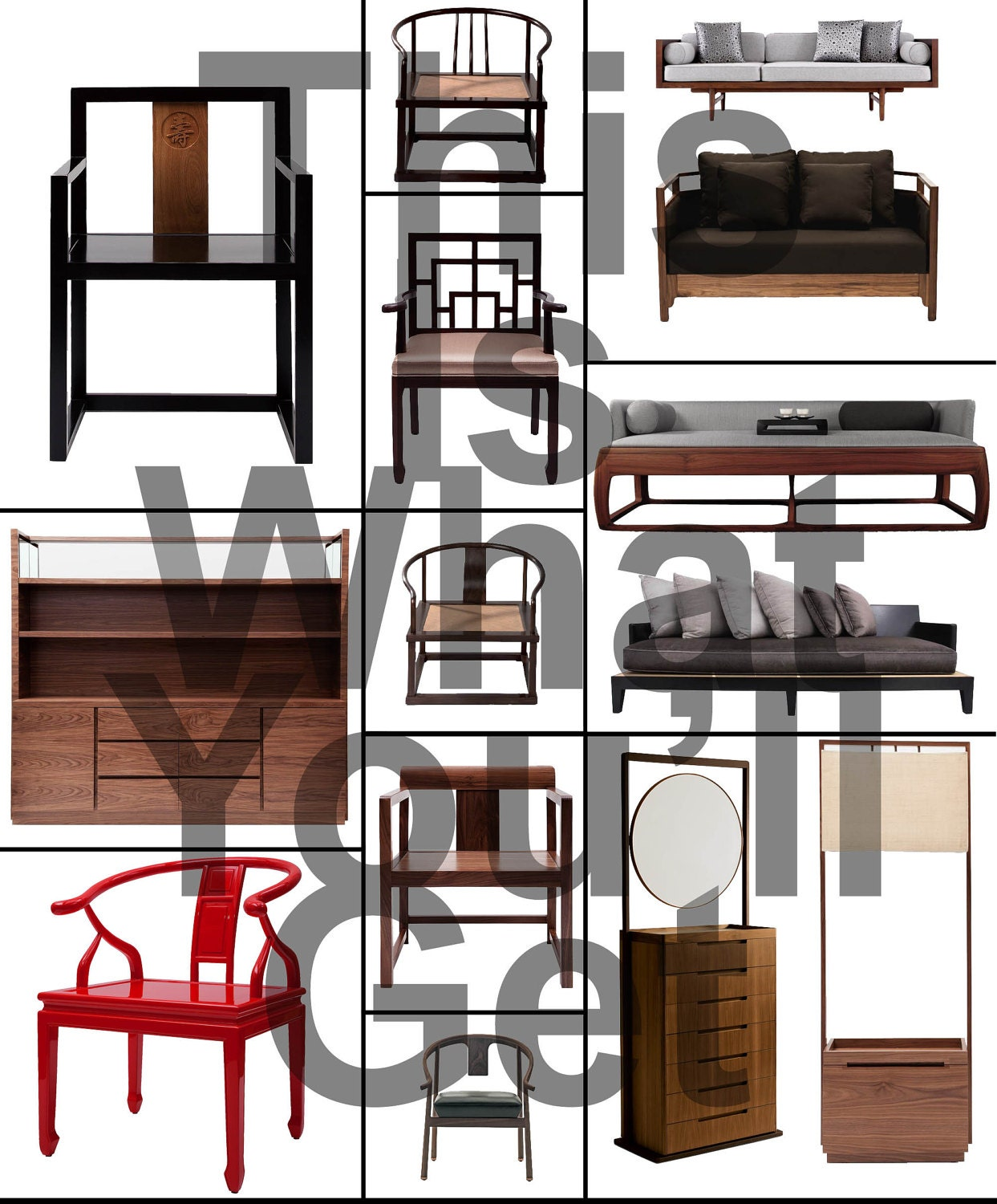 Zen Style Interior Design: Zen Style Furniture Clip Art Photo For Your Mood Board