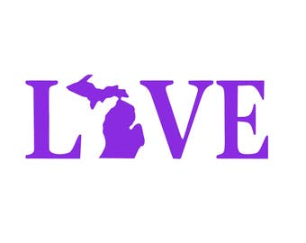 Love Michigan Decals