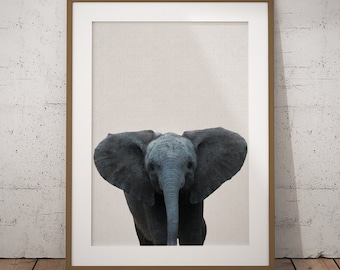 Elephant Print, Elephant Nursery, Elephant Art Print, Elephant Wall Art, Elephant Poster, Elephant Decor, Safari Nursery, Printable Elephant