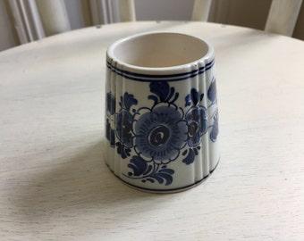 Vintage Blue and white Delft Vase Holland