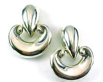 Patricia Von Musulin Sterling Silver Door Knocker Hinged Earrings