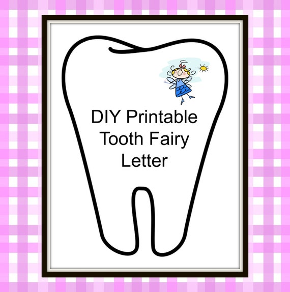 Diy Tooth Fairy Letter Background Lost Tooth Baby Milestone