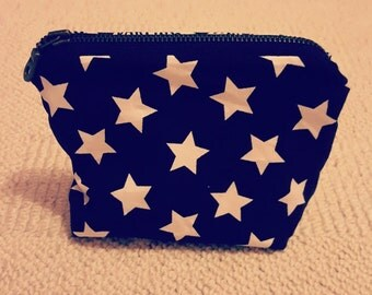 Polka in Midnight blue with white stars