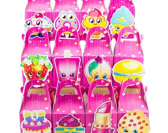 Shopkins favour box, Shopkins candy box, Shopkins goody bag, Shopkins Treat bag