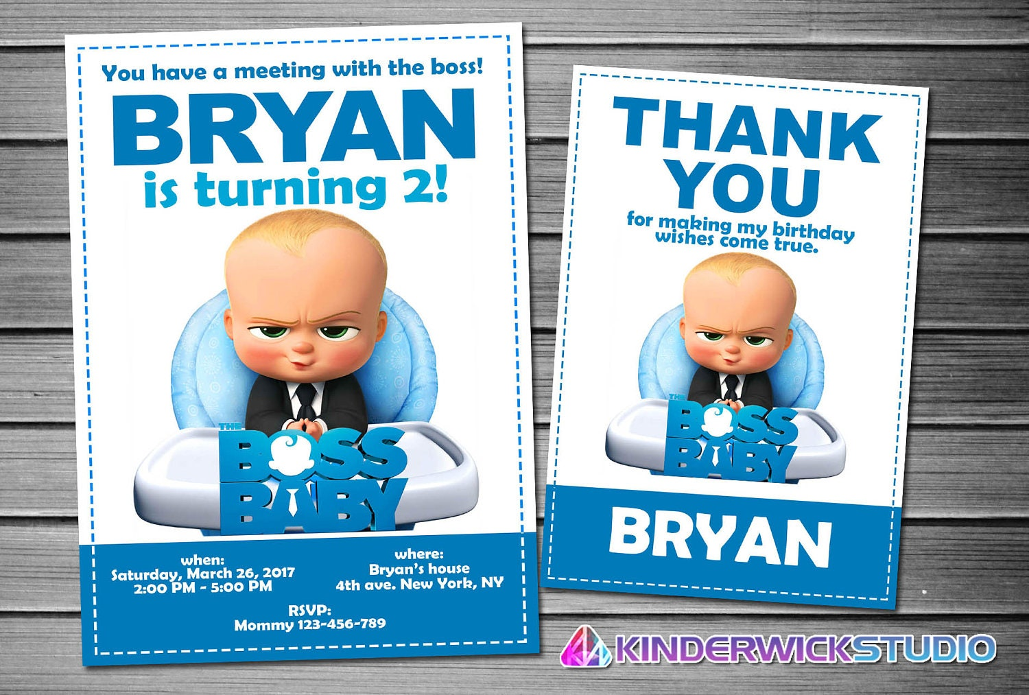 Boss Baby Invitation Boss Baby Birthday Boss Baby Party