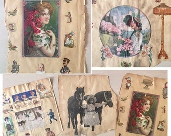 Victorian Era Scrapbook Pages - 1800's- Ephemera