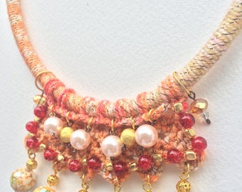 Unique handmade jewelry necklace.
