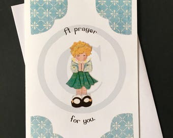 Encouragement Card- Prayer girl