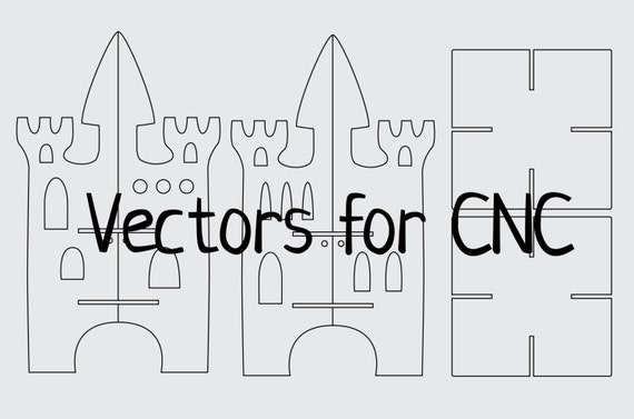 Castle Vectors For Cnc Vector Clipart Dxf Ready To Use