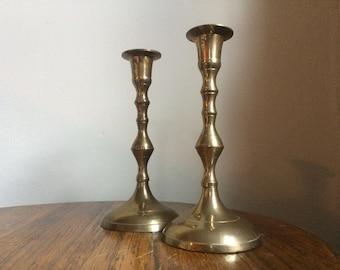 Large Brass Candletsticks