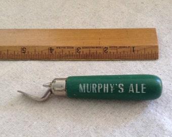 SALE! Vintage Murphy's Ale bottle opener