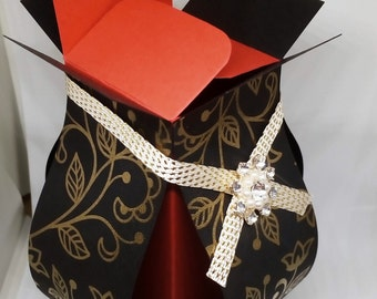 Tall handmade gift box