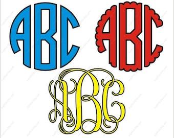monogram svg, circle monogram svg, vine monogram svg, scalloped circle monogram svg, monogram svg bundle, monogram svg font