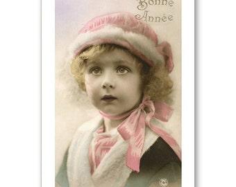 Personalised Handmade Greetings Card ~ Vintage Postcard of A Child  #14