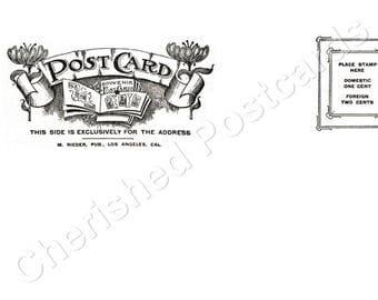 Wedding Place Cards Vintage UK Plain Postcard Tent Style Place Cards or Table Place Cards #044