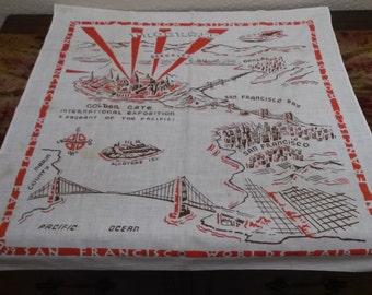 1939 Golden Gate International Exposition Linen